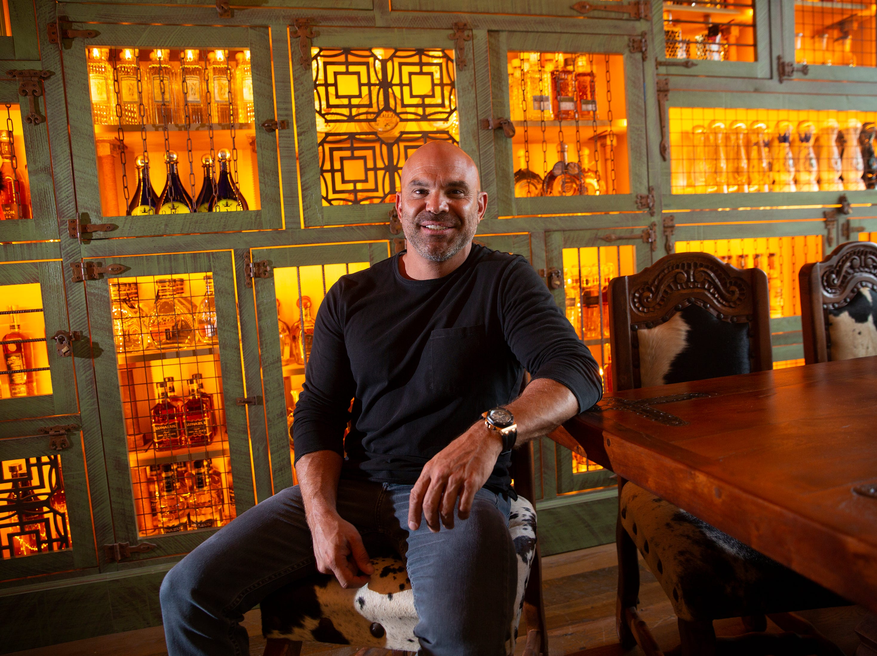 Rocco Mangel, owner of RoccoÕs Tacos & Tequila Bar poses for a portrait, Tuesday, Feb. 26, 2019, at his new resturant in Naples.