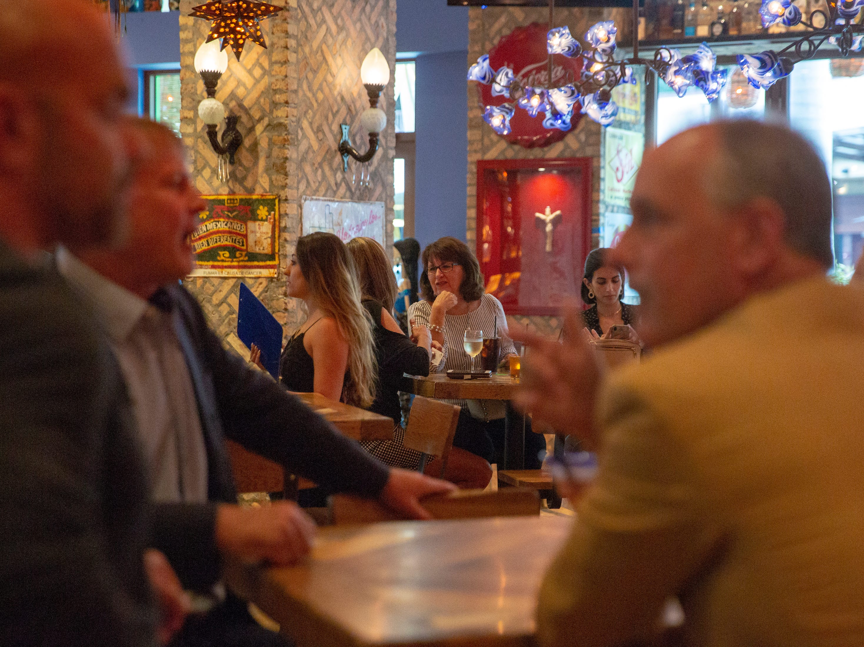 Rocco's Tacos & Tequila Bar invited guest enjoy drinks , Tuesday, Feb. 26, 2019, at the new restaurant in Naples.