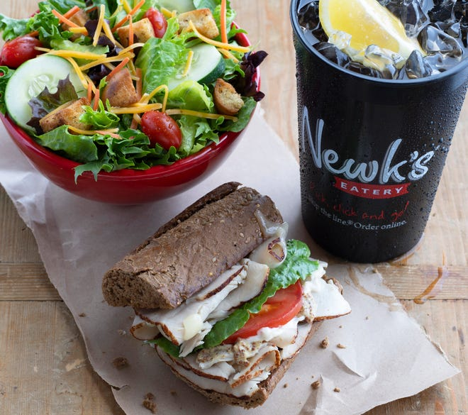 Turkey breast sandwich at Newk's Eatery.