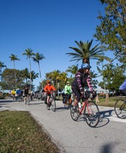 Naples Pathways Coalition members rode in the TD Bank Naples Bike Brunch in 2016.The cycling event is for every fitness level.