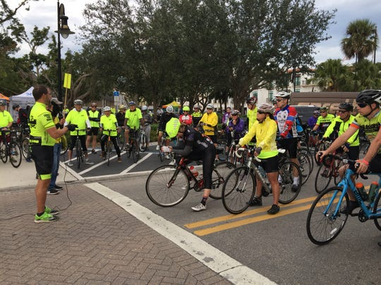 Bicyclists get ready to start during a previous Naples Bike Brunch. This year's event takes place Sunday at Fleischmann Park.