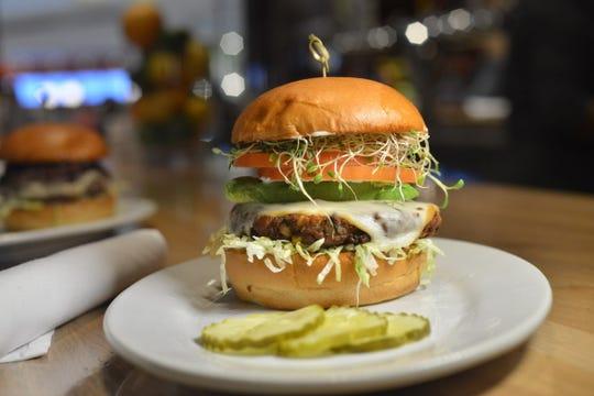 Veggie burger at Zinburger in the Garden State Plaza mall. Photo by Marko Georgiev/Staff
