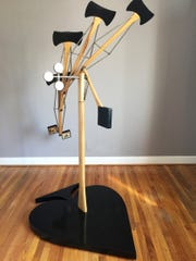 """The Morris Museum's  new exhibit """"A Cache of Kinetic Art: Simply Steampunk"""" includes Transformation, created by artist   Kyle Dries in 1991."""