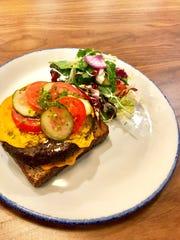 Veggie burger at the Saddle River Cafe in Saddle River