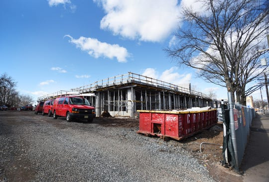 Photo of the site currently under construction, located 1500 Teaneck Road in Teaneck for a story about new developments going up in town, photographed on 02/25/19.