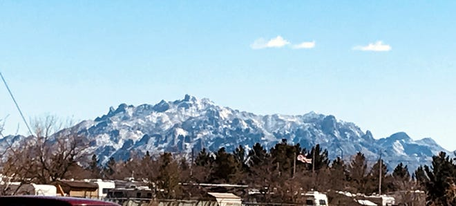 The Florida (Flo-ree-dah) Mountains were dusted by Old-Man Winter last week when New Mexico was hit by a major winter storm last week. Deming and Luna County only received a dusting of snow while the majority of the state took quite a few white flakes. The snow-covered peaks to the south of Deming were a site to see, as many locals drove out to adjacent Rockhound State Park and Spring Canyon to take in some winter frolic.