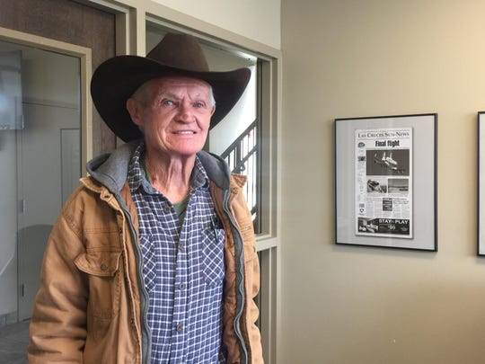 "Sonny ""Tex"" Harold Gilligan said he's lucky to be alive after being declared dead after being shot by his dog Charlie in October 2018."