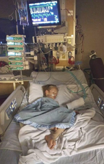 Five-year-old Timothy Page, of Las Cruces, is hospitalized at the University of New Mexico's Children's Hospital in Albuquerque with a life-threatening condition.