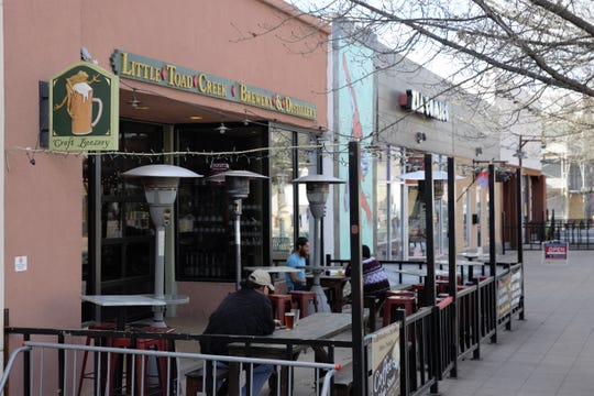 Little Toad Creek Brewery and Distillery's Las Cruces tasting room faces downtown's Plaza de Las Cruces at 119 N. Main Street. Seen on February 25, 2019.