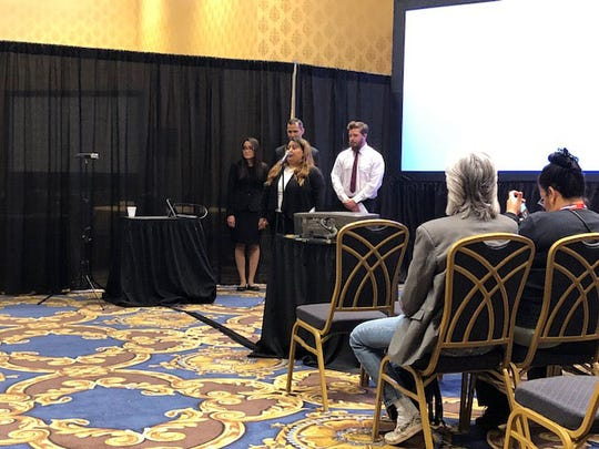 DACC students present their design proposal to judges. Photo taken by Kevin Gall.