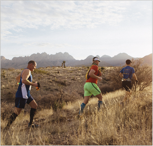 Runners participate in the Sierra Vista Trail Runs.