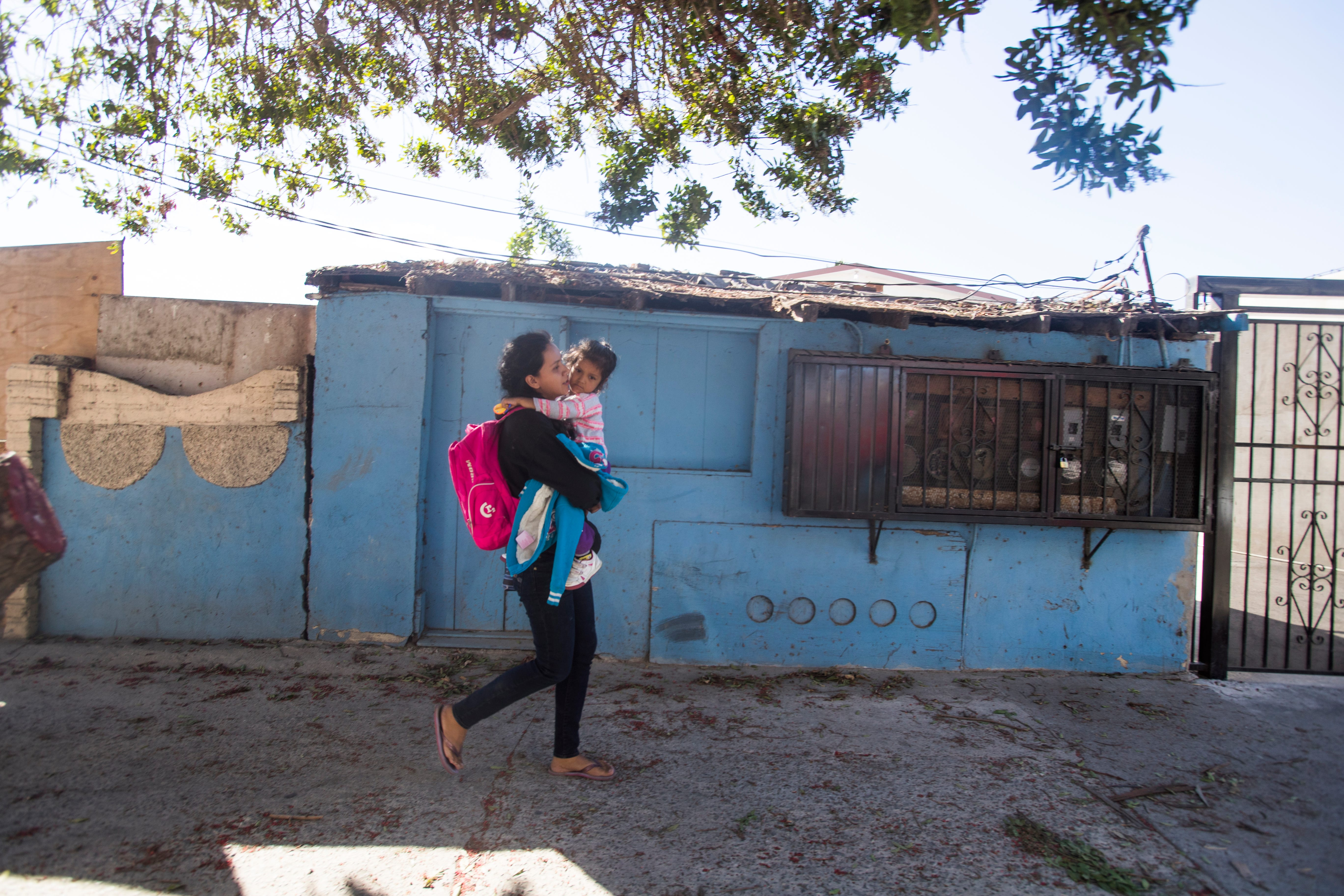 In November 2018, Rosa and her daughter Sofia walked back to the Tijuana migrant shelter after learning it wasn't yet their turn to meet a U.S. Customs and Border Protection officer.