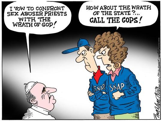 Bob Englehart drew this editorial cartoon.