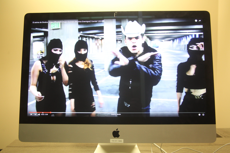 "This music video, viewed more than 2.5 million times on YouTube, celebrates convicted cartel kingpin Joaquín ""El Chapo"" Guzmán."