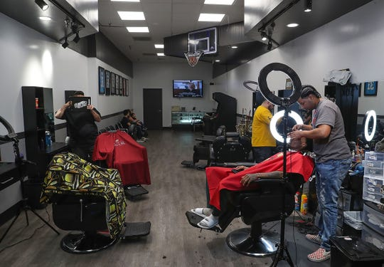 Doc's Barbershop in the Westfield Palm Desert mall, February 25, 2019.