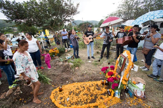 Chilapa has become one of the most violent cities in the world. Many young people have been the casualties of organized crime and ultimately end up in the municipal cemetery. On Day of the Dead, family member visit the grave of a young man who was murdered along with his cousin by cartel members.