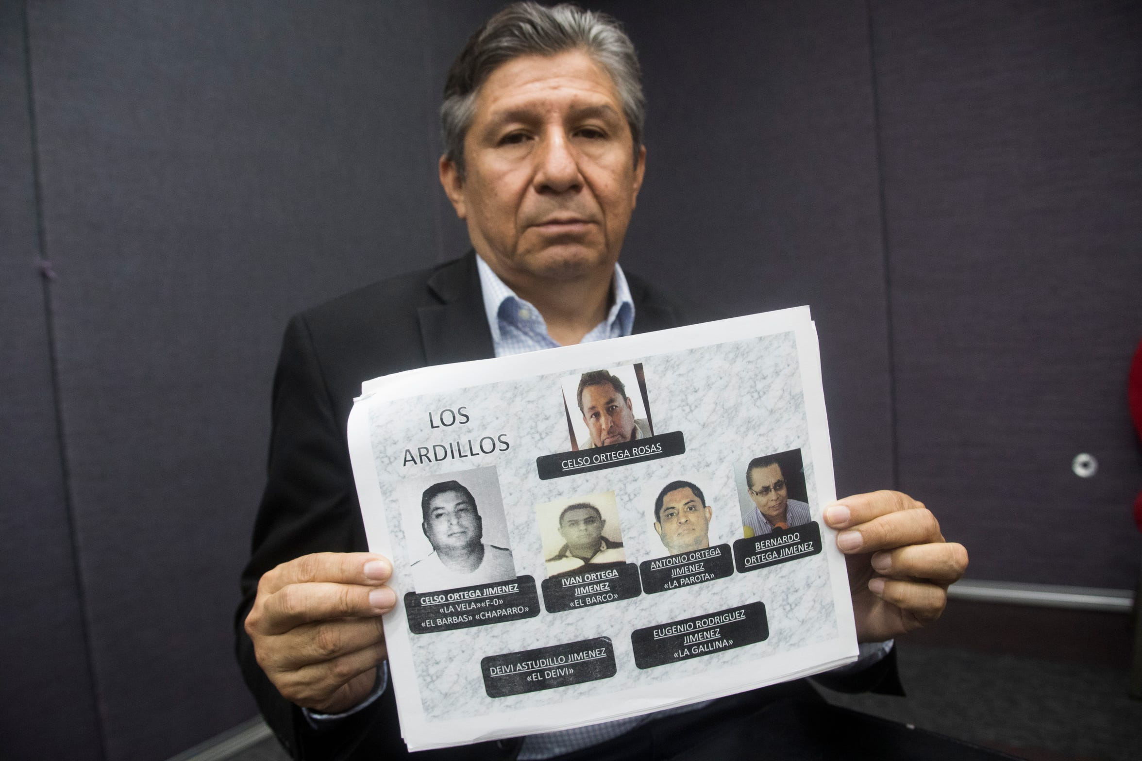 José Díaz Navarro lost two brothers to violence in Chilapa. He now  leads a Guerrero-based victims advocacy group.