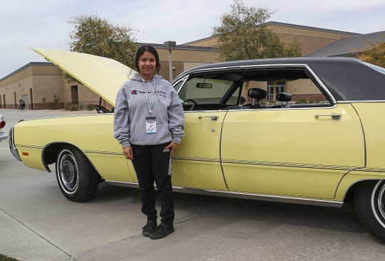 Marlene Jara is in the automotive career technical education program at Rancho Mirage High School, February 26, 2019.
