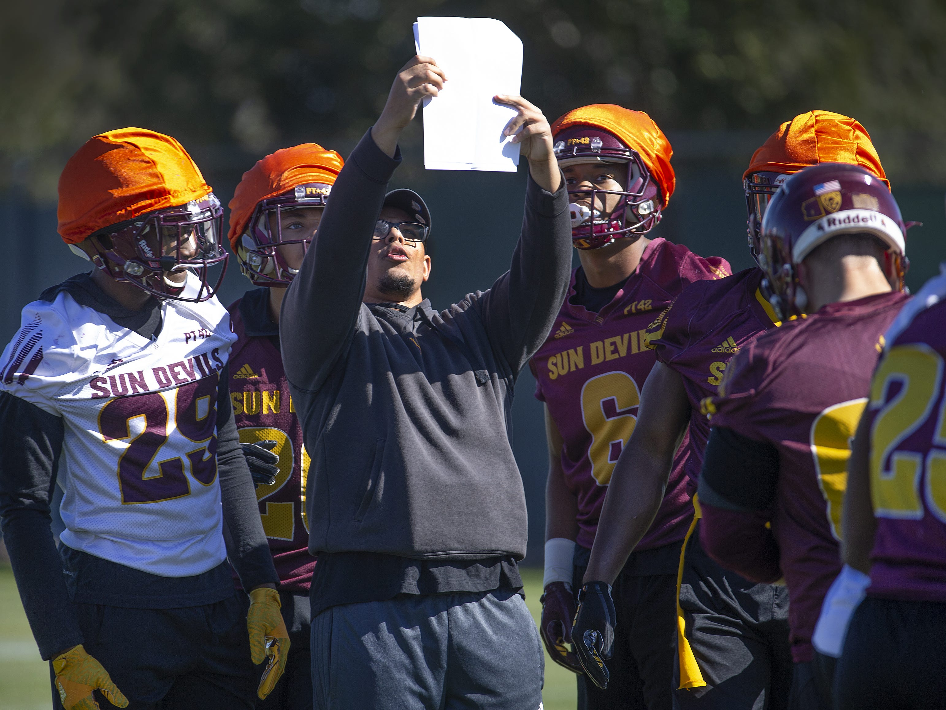 The Arizona State University football team practiced in Tempe, Tuesday, February 26, 2019.