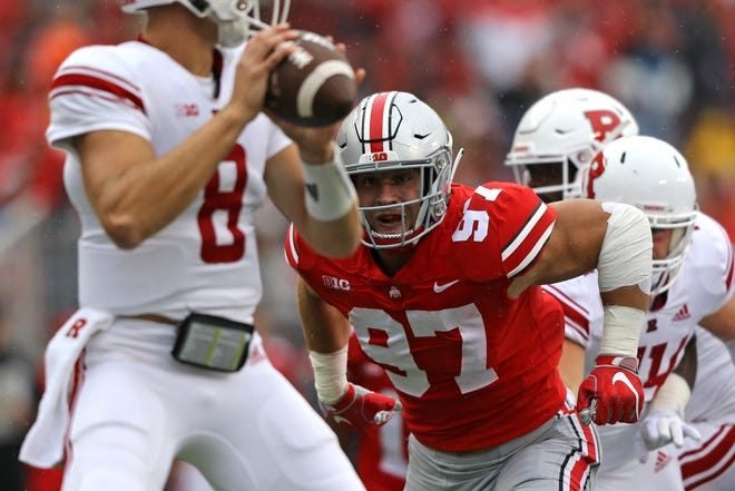 Ohio State defensive end Nick Bosa played in just three games this season, but he still recorded four sacks and a forced fumble he returned for a touchdown.
