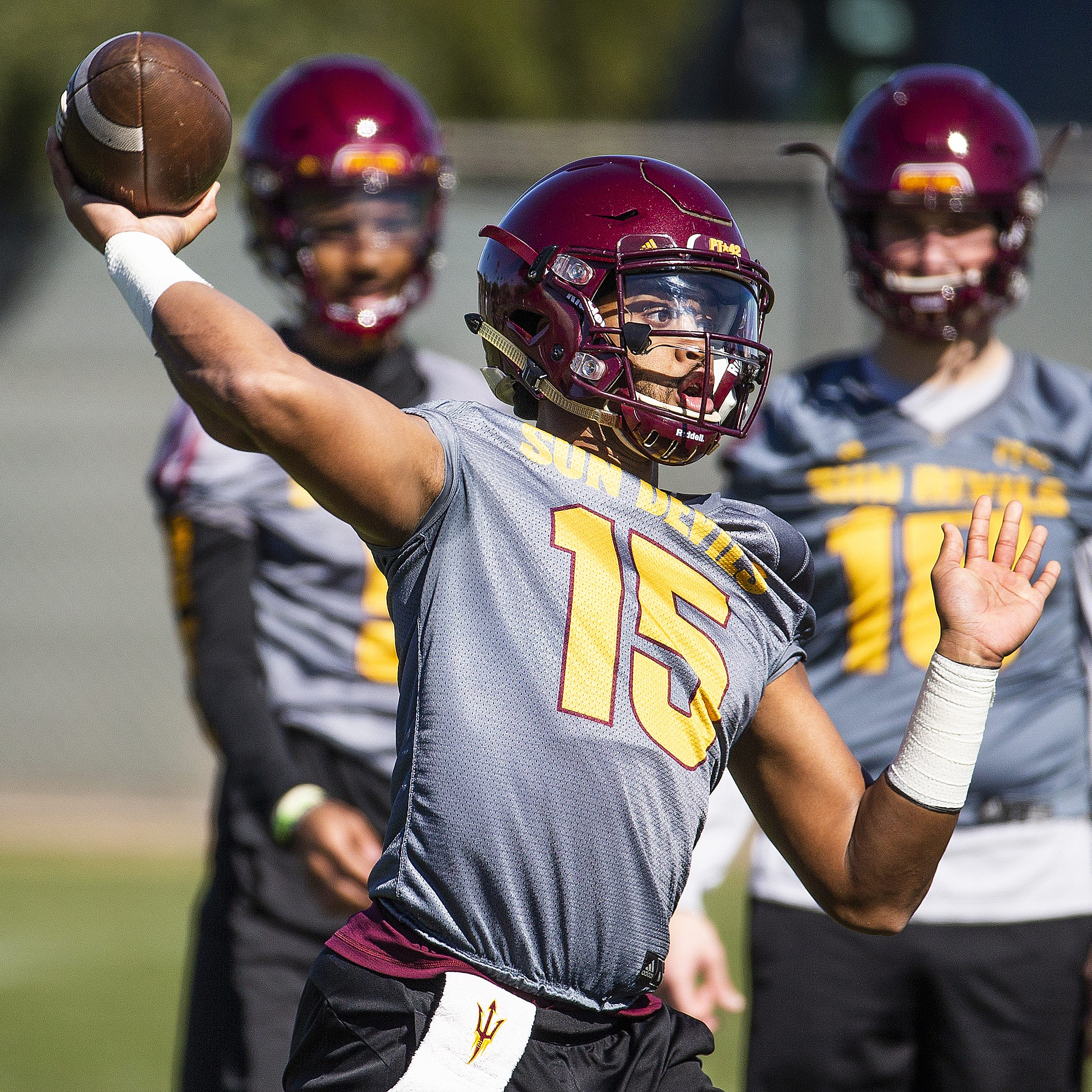 ASU's quarterback battle rages on as the end of spring practice approaches