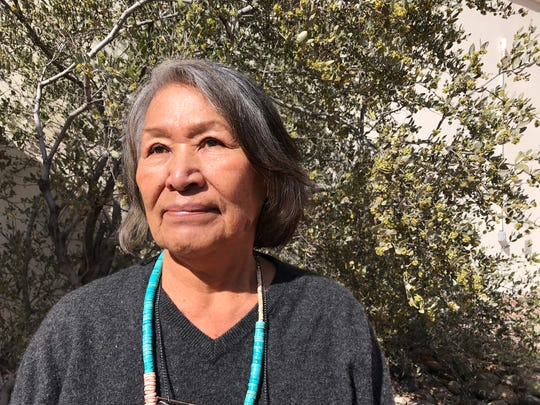 Marie Reyhner from Flagstaff, Ariz., went to Leupp boarding school when she was seven years old. It was her first time being away from her family.