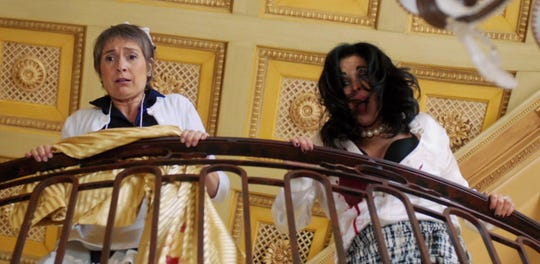 "Berta (Assumpta Serna, left) helps her boss (Maria Conchita Alonso) cover up a murder in ""¡He Matado a Mi Marido!"""