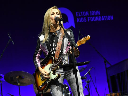 "Sheryl Crow's hits include ""My Favorite Mistake"" and ""All I Wanna Do."""