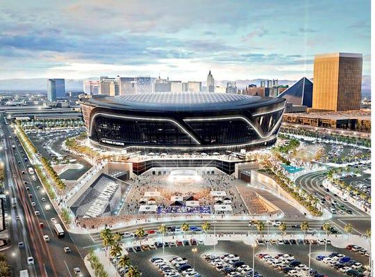 Así lucirá el nuevo estadio de los Raiders en Las Vegas, el cual quedará listo para el 2020.