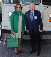 Norman Weinstock and York College President Pamela Gunter-Smith at the York Junior College reunion in October 2018.