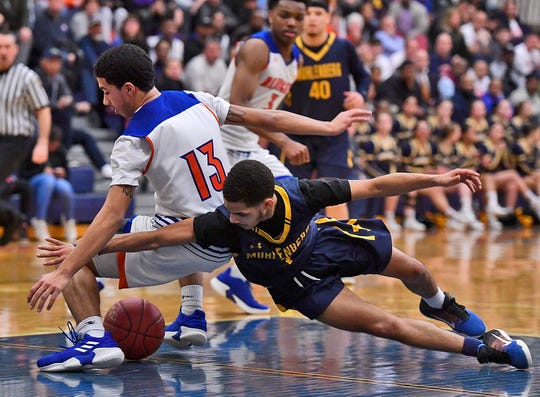 York High vs Muhlenberg in the District 3 Class 5-A boy's basketball semifinal game, Monday, February 25, 2019. John A. Pavoncello photo
