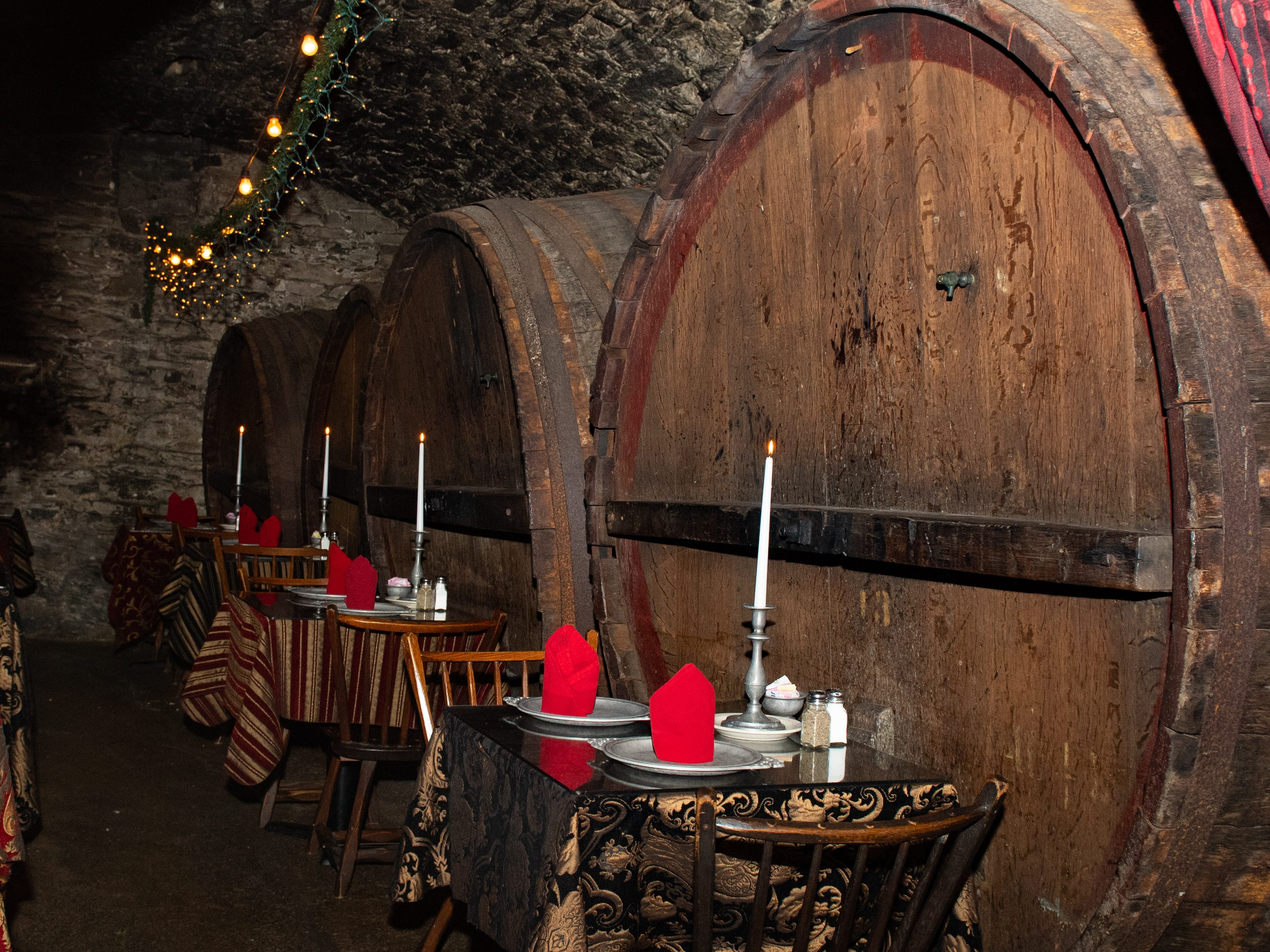 In the Catacombs of Bube's Brewery, customers have the unique fine dining experience in a cave below the brewery. The 140-seat dining area is reserved for nightly service and also hosts speciality 'feasts' monthly including a Roman-themed and pirate-themed feasts, February 22, 2019.