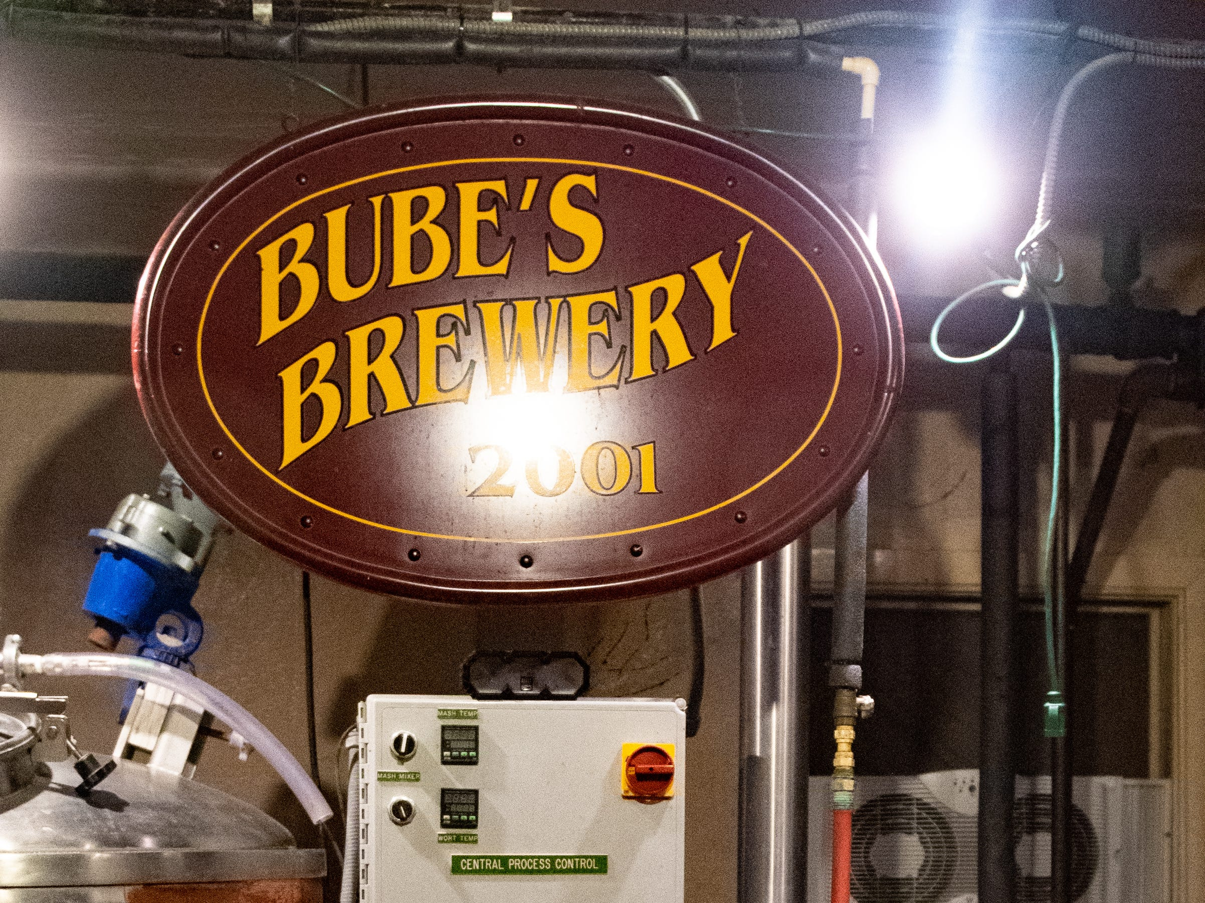 Near the Bottling Works kitchen is the brewery at Bube's. Production was shut down during Prohibition and did not resume until 2001.  February 22, 2019.