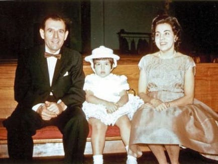 York County's Delma Rivera-Lytle is seen with her aunt and uncle, Juan and Doris Román. Juan Román became the first U.S. victim of Lassa fever when he died visiting the Rivera family in York County in 1969.