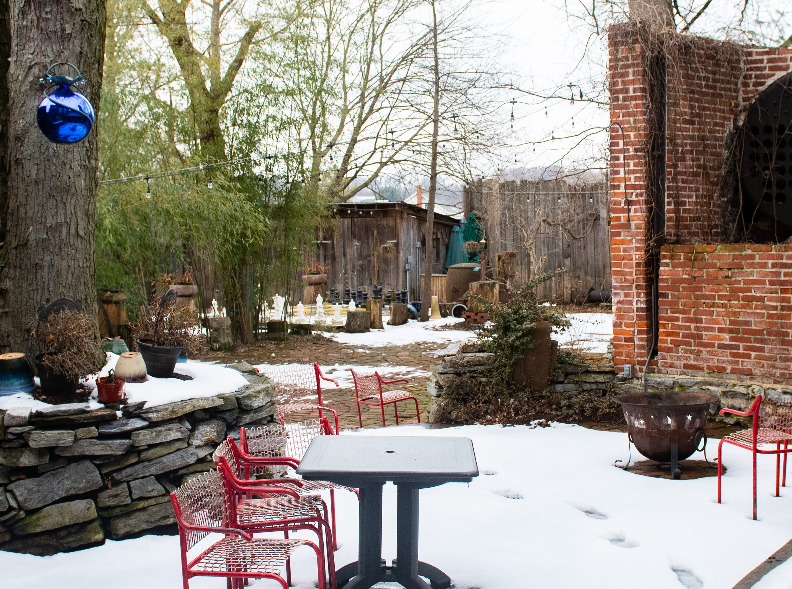 This is the Biergarten of Bube's Brewery. When it's not cold outside, patrons sit outside and enjoy the weather. Chef Alex Brown is expecting to host pig roasts and clam bakes in the 120-seat Biergarten during the warmer months, February 22, 2019.