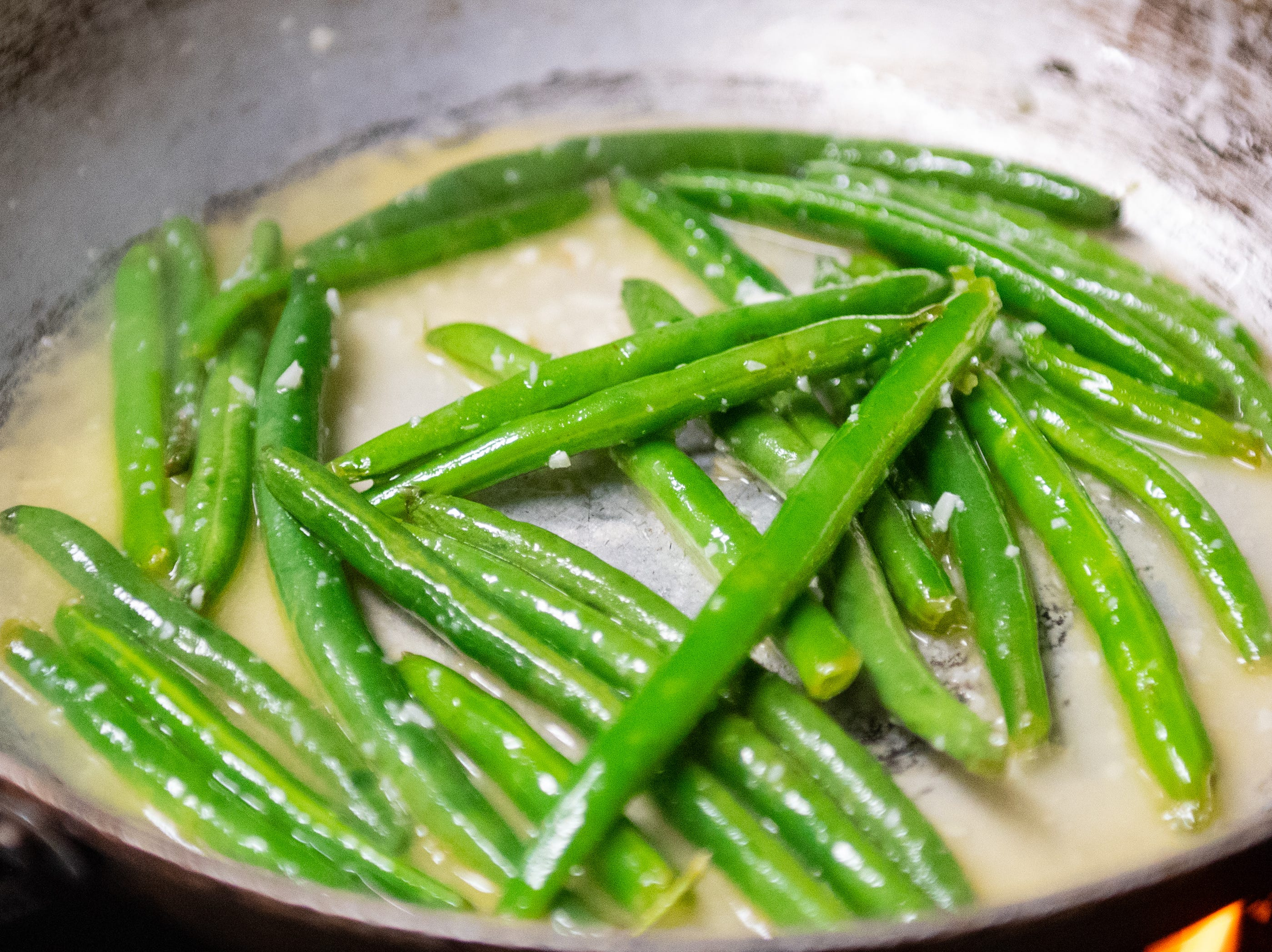 The asparagus in the Bottling Works kitchen has been thoroughly seasoned, February 22, 2019.