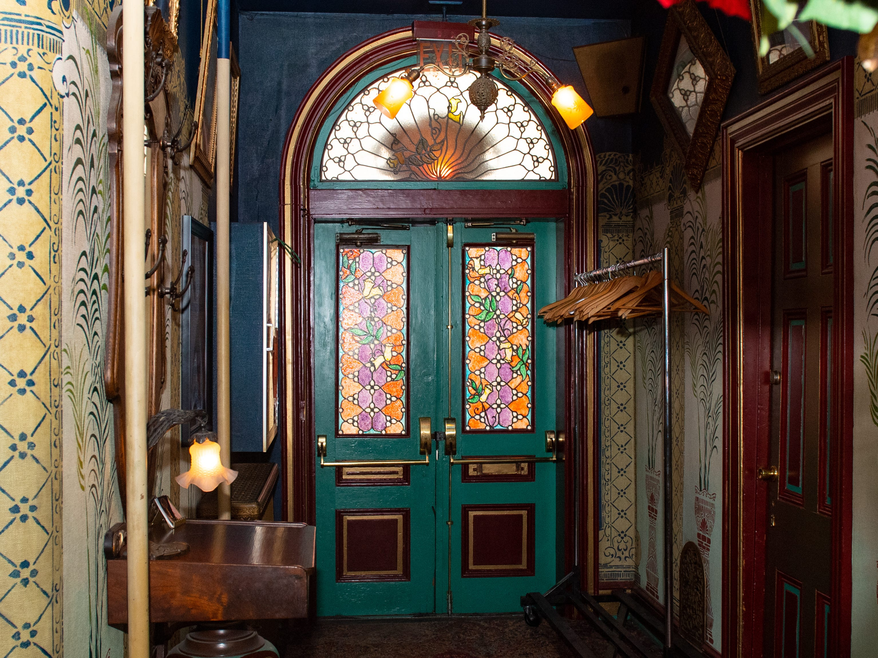 The colorful front door of the Victorian Hotel adjacent to Bube's Brewery. The hotel was built in 1879, originally as a home for Alois Bubes. February 22, 2019.