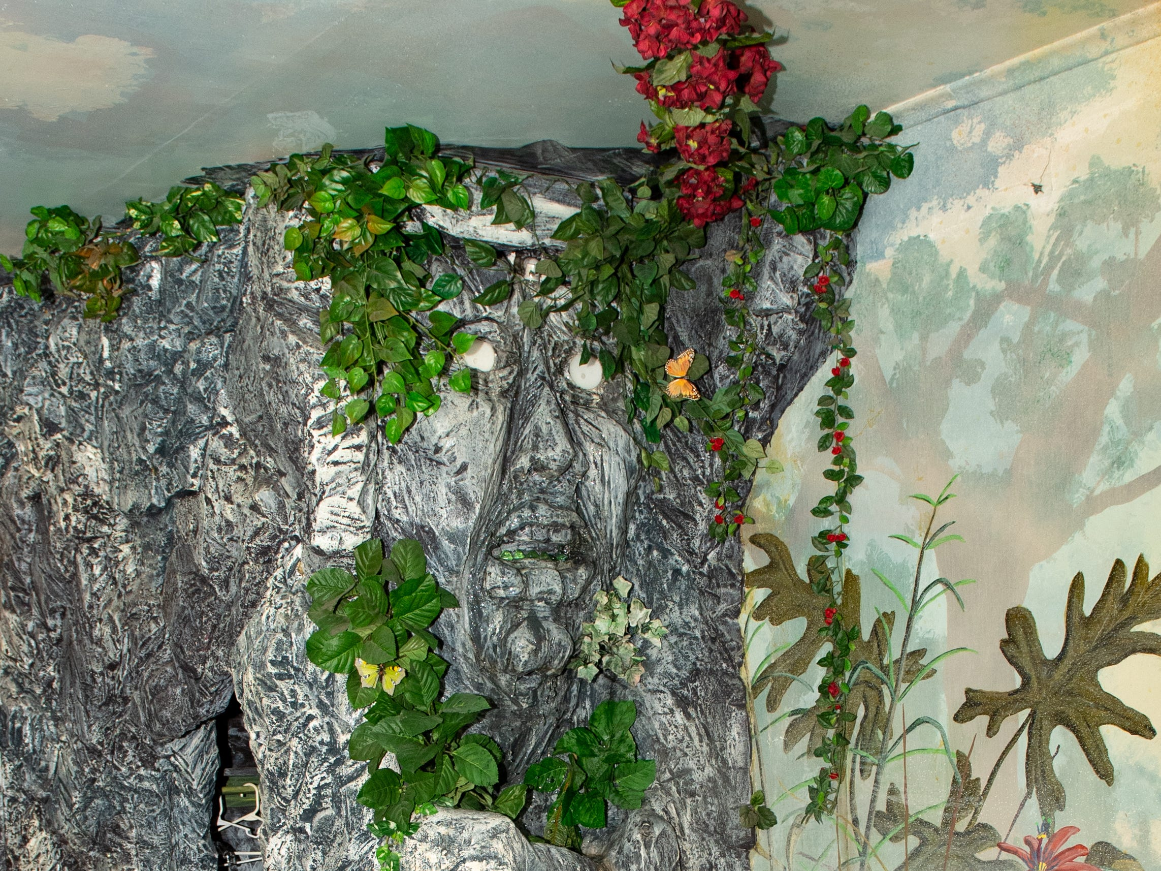 """The waterfall inside the """"Jungle"""" at Bube's Brewery. The historic hotel adjacent to the brewery has 8 specialty rooms and a grand suite available. February 22, 2019."""