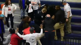 Multiple arrests were made in York High's gym after Monday's district semifinal.