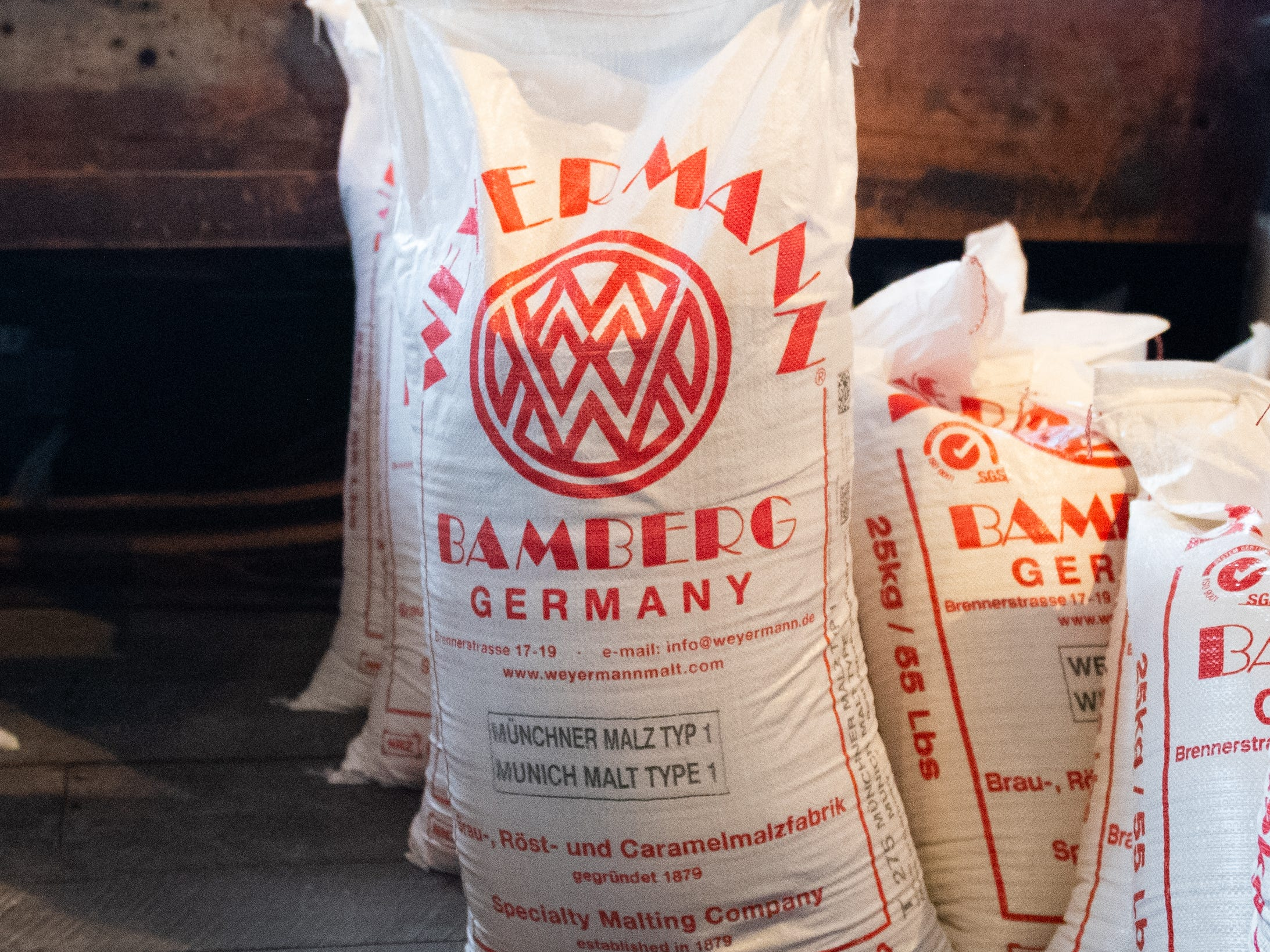 This German malt is in the back of the Cooper Shed at Bube's Brewery, February 22, 2019.