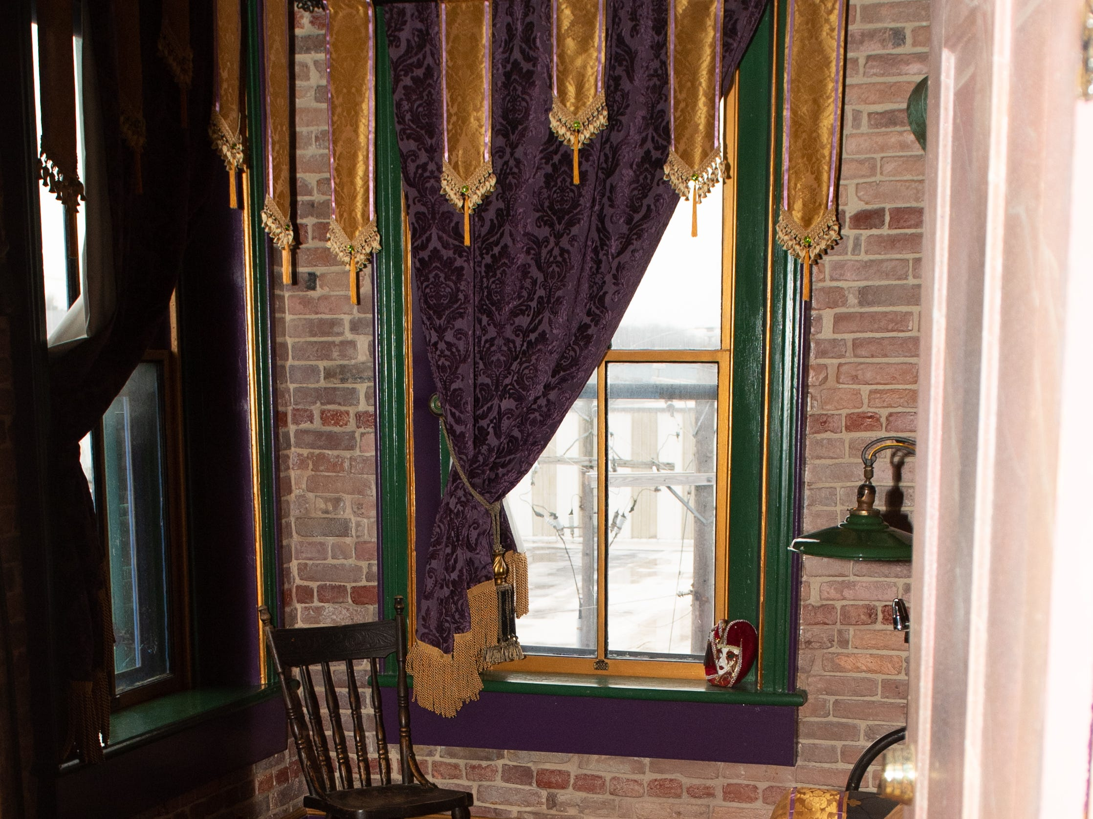 """Inside the 'Madri Gras' room at the Victorian hotel adjacent to Bube's Brewery in Mt. Joy. The 8 speciality rooms vary between theme including a """"Japanese massage"""" room and a """"Tiki"""" room, February 22, 2019."""