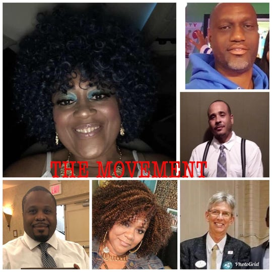 "Tonya Larry, Fred Walker, and Raymond Bull (top photos) and Anu Banks, Tonya Thompson Morgan and Craig Wolf (bottom pictures) are all members of ""The Movement""."