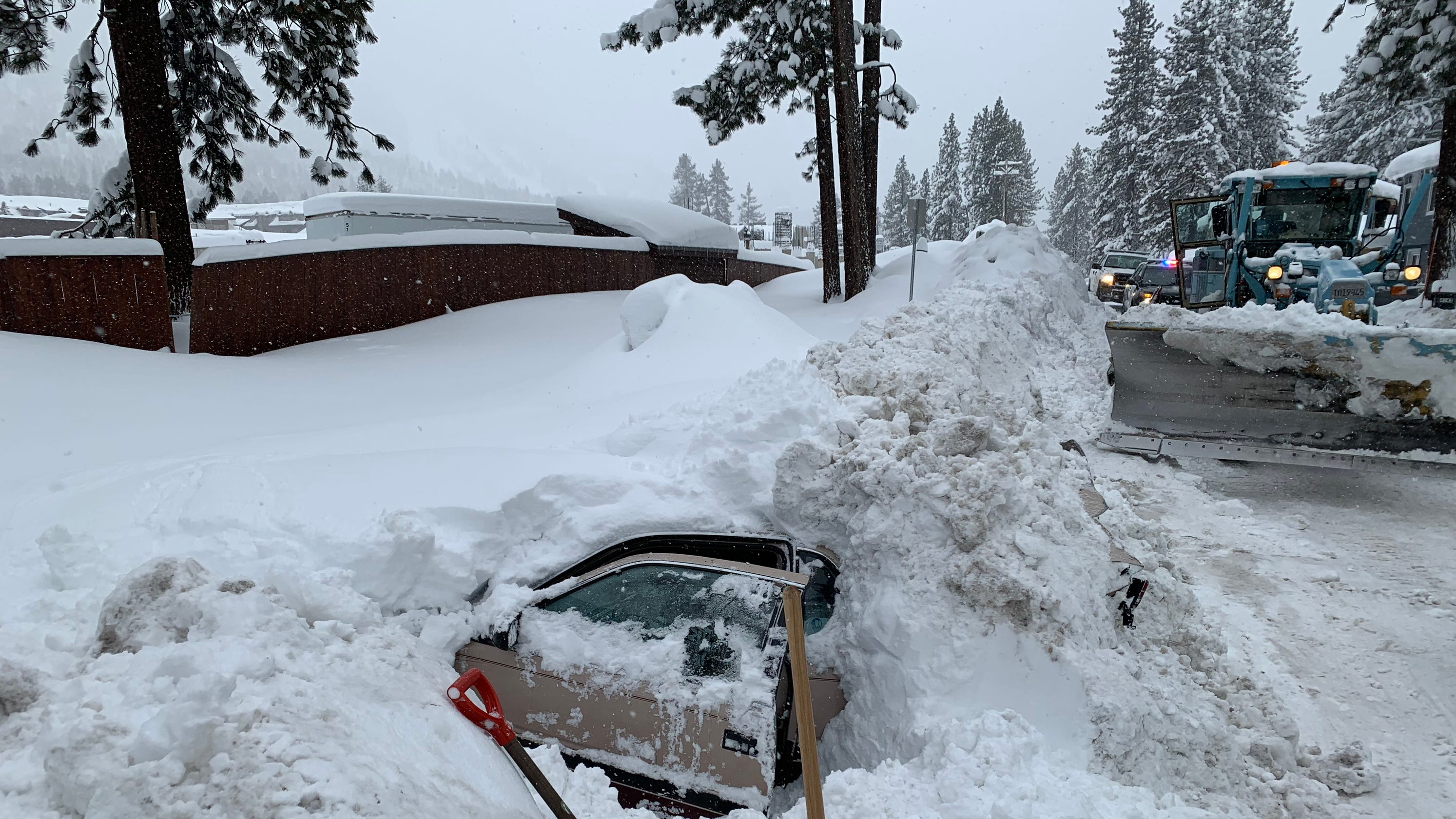 Tahoe officials: Woman trapped in car hit by snowplow got lucky