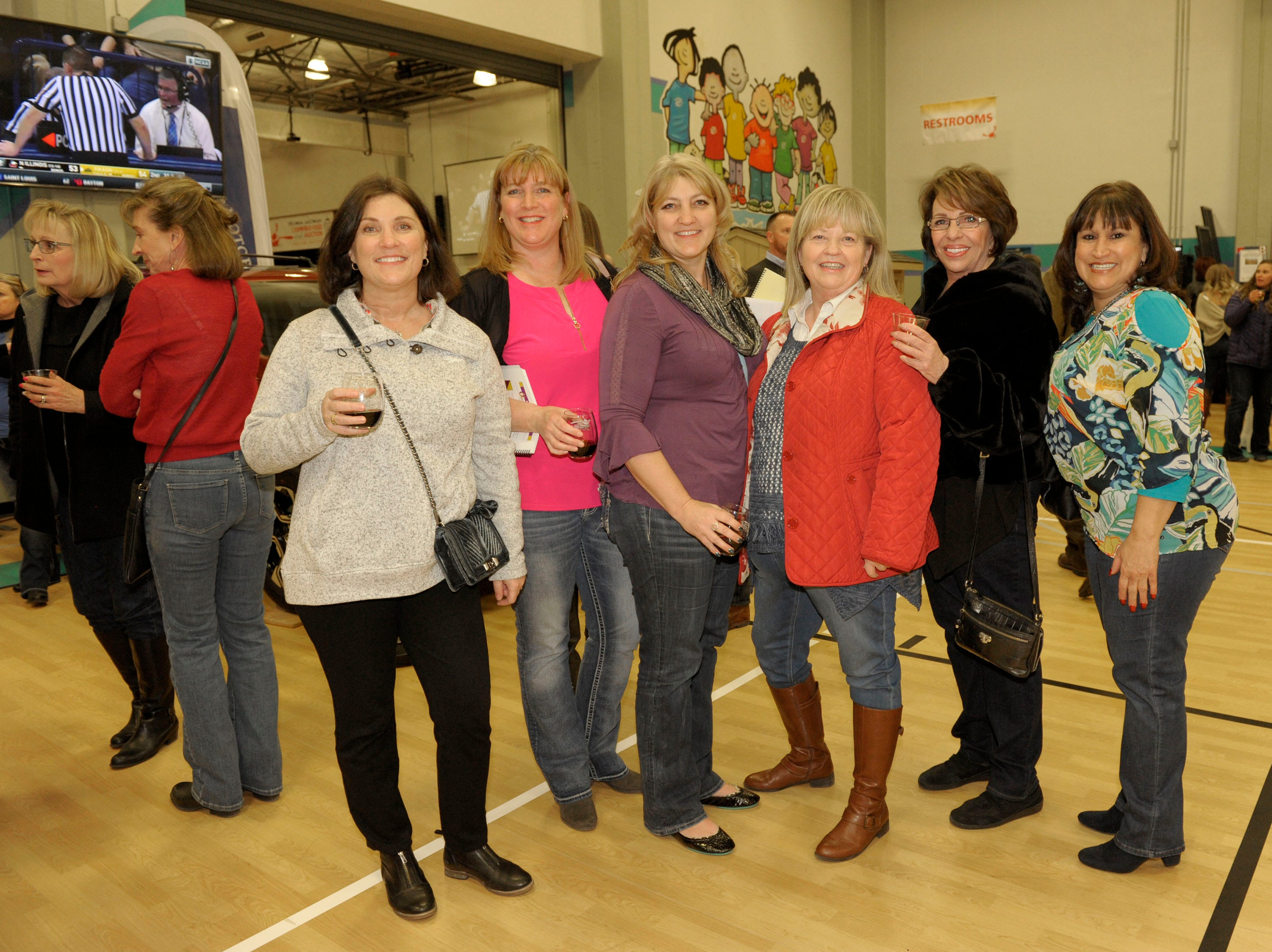 Michele Montoya, Angela Flora, Teresa McKee, Cheryl Smith, Sandee Smith and Claudia Saavedra attend the 39th Annual Jack T. Reviglio Cioppino Feed and Auction at the Boys & Girls Club of Truckee Meadows Sat., Feb. 23, 2019. Photos by Lisa J. Tolda/Special to the RGJ.