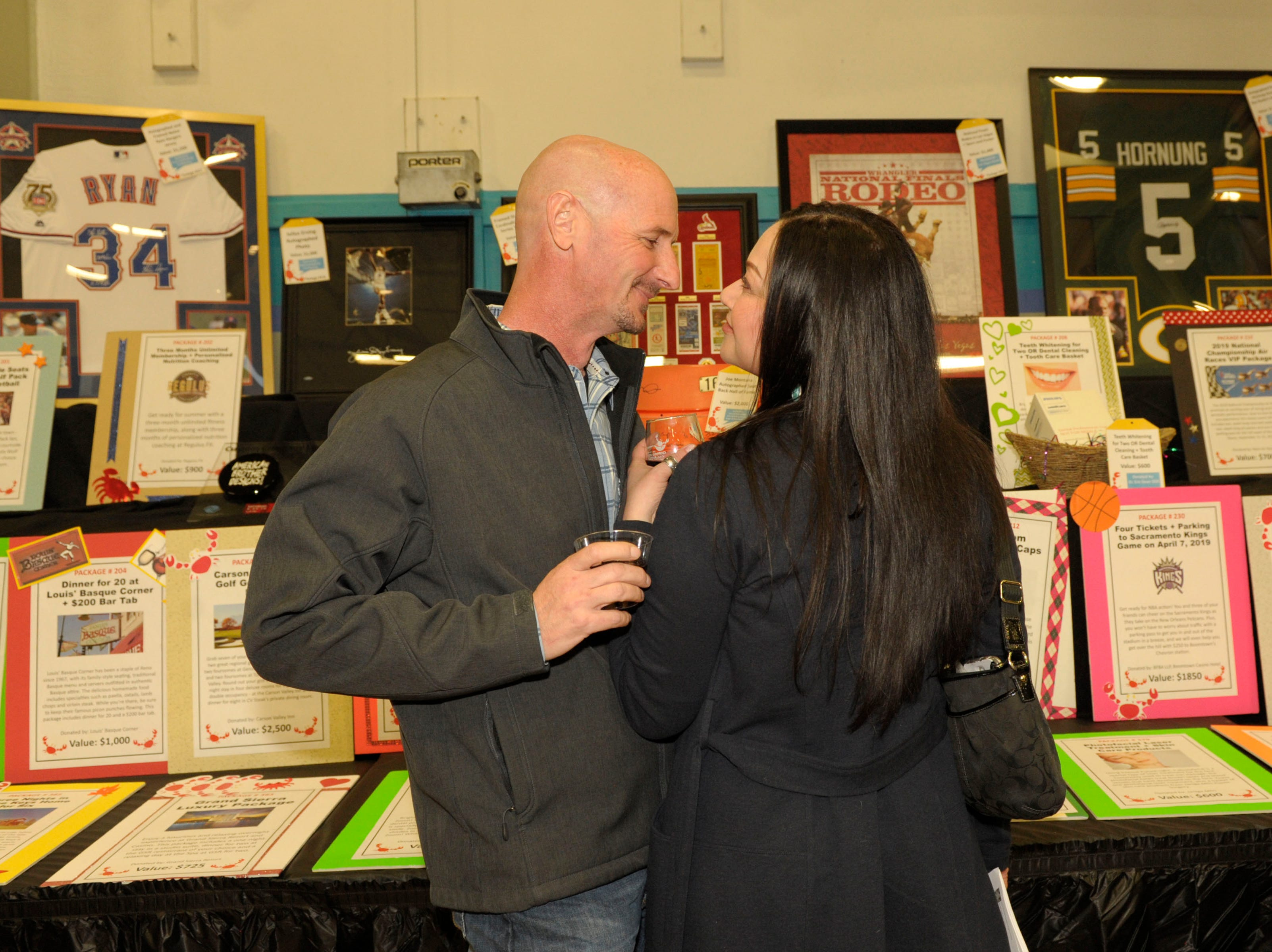 Mark Haire and Lorie Roberts attend the 39th Annual Jack T. Reviglio Cioppino Feed and Auction at the Boys & Girls Club of Truckee Meadows Sat., Feb. 23, 2019. Photos by Lisa J. Tolda/Special to the RGJ.