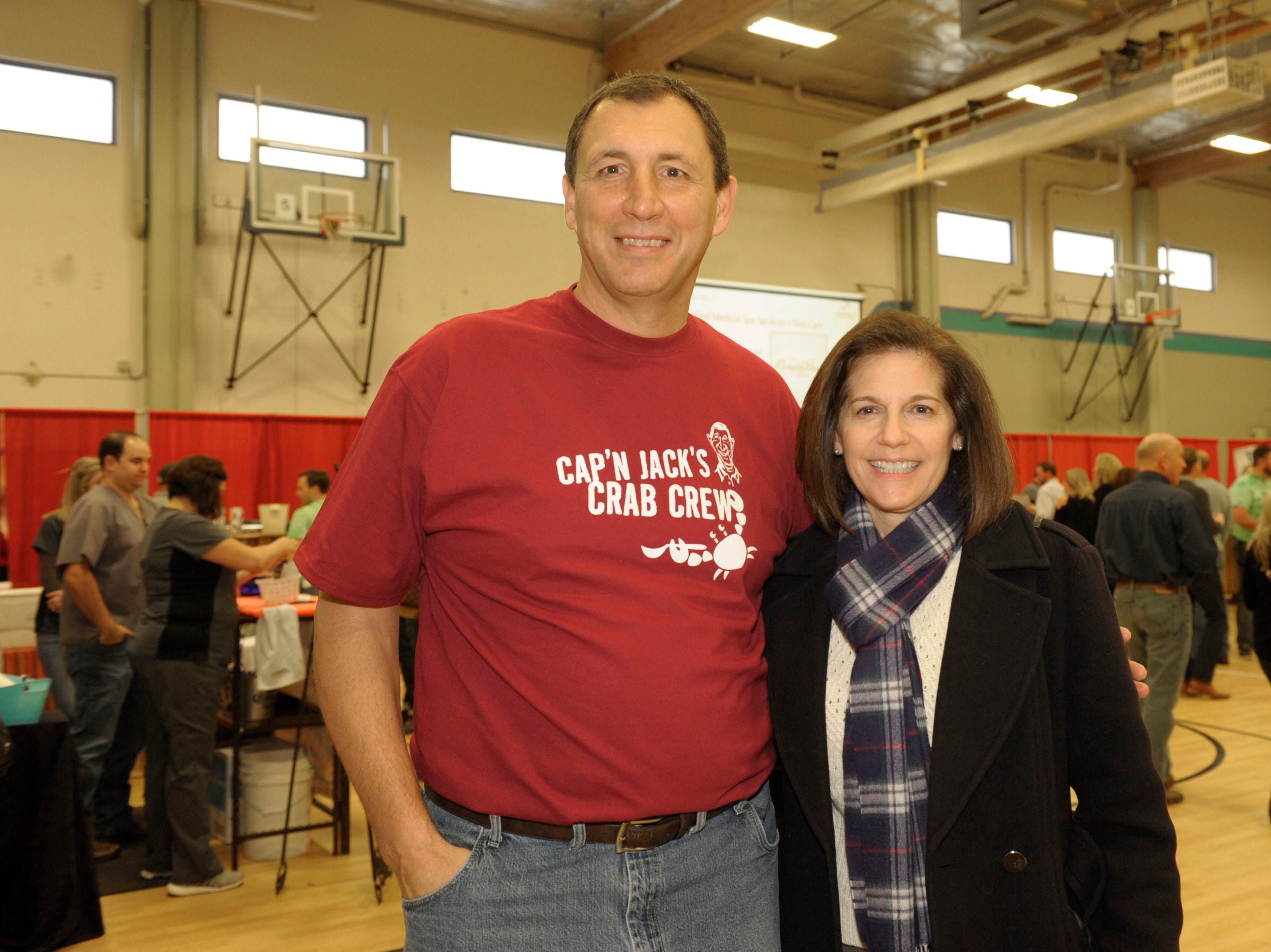 Mike Wurm and Catherine Cortez Masto attend the 39th Annual Jack T. Reviglio Cioppino Feed and Auction at the Boys & Girls Club of Truckee Meadows Sat., Feb. 23, 2019. Photos by Lisa J. Tolda/Special to the RGJ.
