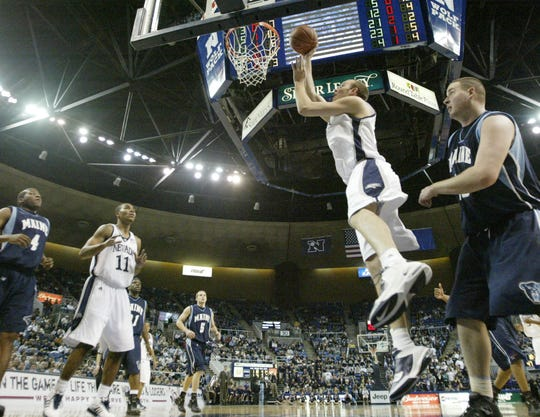 Nevada's Nick Fazekas scores against Maine during a 2006 game at Lawlor Events Center.