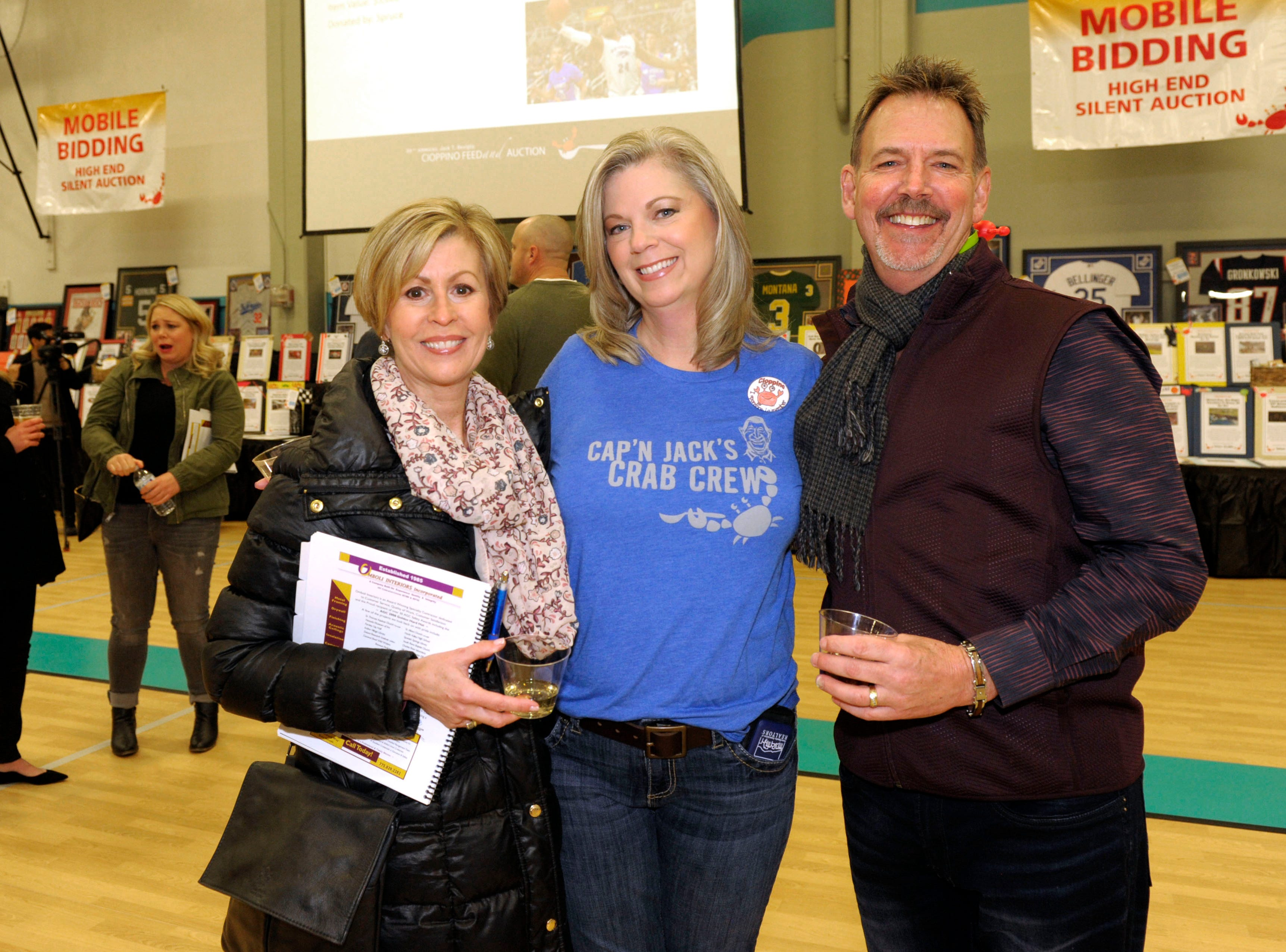 Deb de Lancey, Erin Schiller and Jim de Lancey attend the 39th Annual Jack T. Reviglio Cioppino Feed and Auction at the Boys & Girls Club of Truckee Meadows Sat., Feb. 23, 2019. Photos by Lisa J. Tolda/Special to the RGJ.