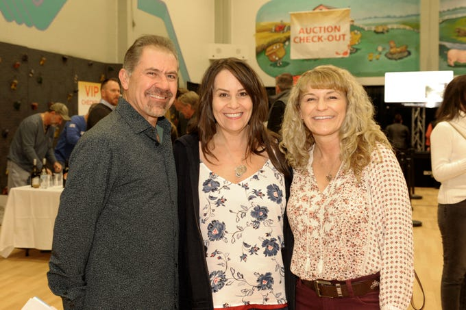 Mario Bullentine, Lisa Blauth and Trish Bullentini attend  the 39th Annual Jack T. Reviglio Cioppino Feed and Auction at the Boys & Girls Club of Truckee Meadows Sat., Feb. 23, 2019. Photos by Lisa J. Tolda/Special to the RGJ.
