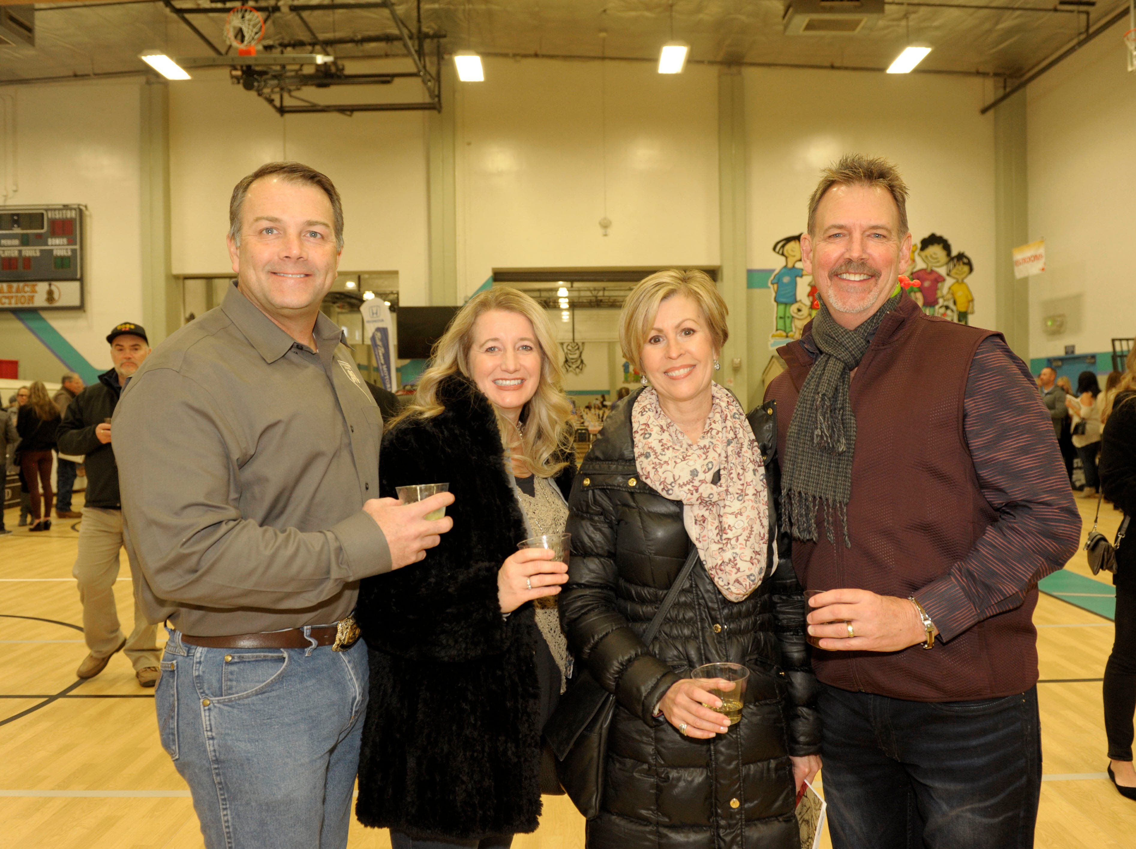 Eric and Renee Millette and Deb and Jim de Lancey attend the 39th Annual Jack T. Reviglio Cioppino Feed and Auction at the Boys & Girls Club of Truckee Meadows Sat., Feb. 23, 2019. Photos by Lisa J. Tolda/Special to the RGJ.